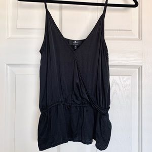 7 For All Mankind Black Cupro Tank